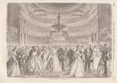 Berliner Subskriptionsball im Jahre 1868; Ueber Land und Meer. Allgemeine Illustrirte Zeitung, 10. Jg. (1868), Bd. 19, Nr. 22 vom Februar 1868, S. 357.