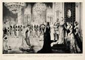 Defiliercour am Hof Wilhelms II.; Jules Huret: L'Allemagne moderne. Paris 1913, Bd. 1, zwischen S. 44 und 45.